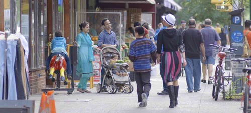 A scene from Frederick Wiseman's IN JACKSON HEIGHTS, opening November 4 at Film Forum. Courtesy of Zipporah Films.