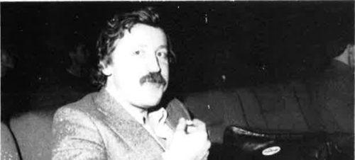 Artikkelforfatteren fotografert under kortfilmfestivalen i 1985.