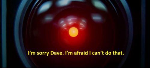 HAL fra Kubricks 2001 en romodyssé