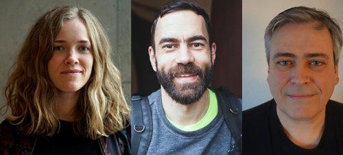 Fanny Ovesen, Kaveh Tehrani og Magnus Grimeland