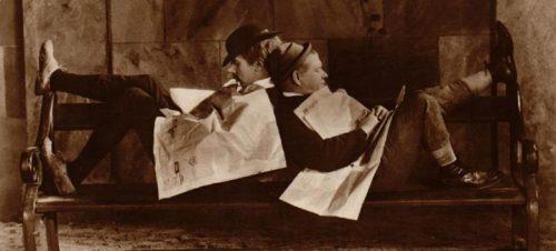 Højt på en kvist, med Pat og Patachon. Lau Lauritzen Sr., Danmark, 1929